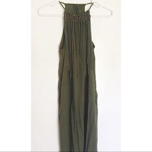 ZARA Fringe Maxi Dress